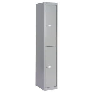 STEEL LOCKER 2 COMPARTMENTS GREY