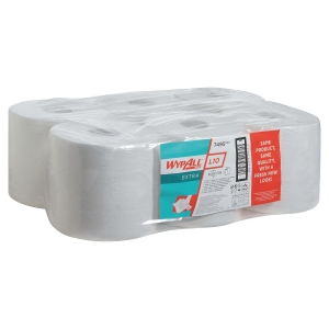 Pack de 6 bobinas industriales de papel 1 capa WYPALL 199m color blanco