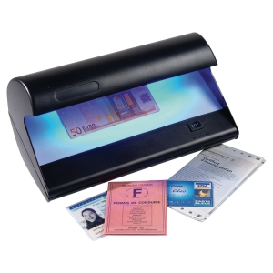 Detector de billetes LD-25 y documentos falsos  Dimensiones:  275 x 135 x 115mm