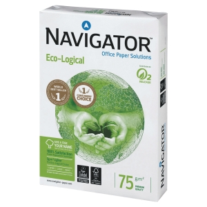 Multifunktionspapper Navigator Ecological A3 75 g kartong med 5 x 500 ark
