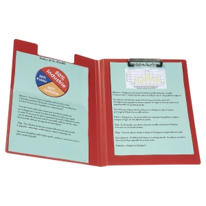 POLYPROPYLENE FOLDOVER CLIPBOARD RED