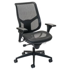 Cadeira de direção de poliéster e nylon PROSEDIA Airspace 3632 cor preta