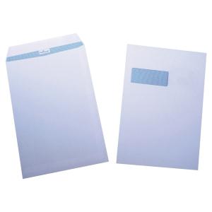 Tašky biele s oknom Navigator C4 (229 x 324 mm), 250 ks/balenie
