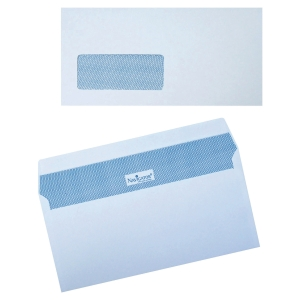 NAVIGATOR ENVELOPES 110 X 220 AA WHITE 90 GRAM WINDOW - BOX OF 500