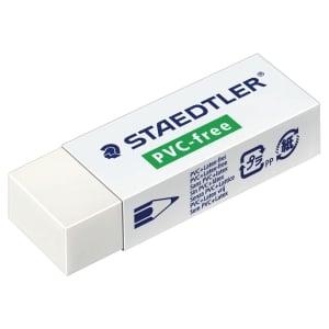 Radiergummi Staedtler 525, 65x23 mm, PVC frei, weiss