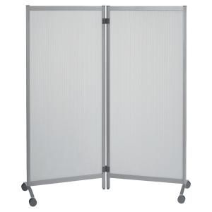 PAPERFLOW MOVEABLE 2 PANEL SCREEN WHITE