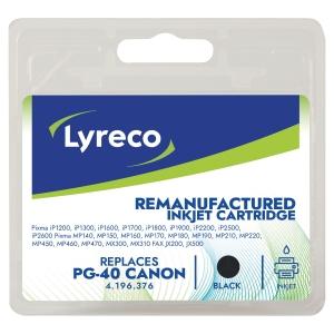 Cartucho de tinta LYRECO negro compatible con CANON PG-40