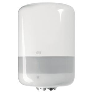 Dispenser Tork M2, til aftørringsruller Centerfeed, hvid