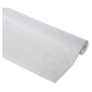 Rouleau nappe papier 1.20x25m damasse blanc