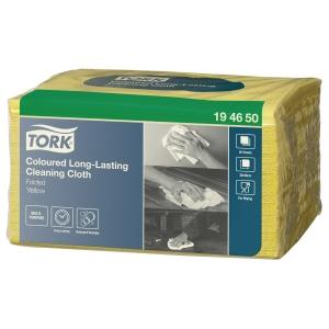 Panno Tork premium in tessuto non tessuto giallo - conf. 40