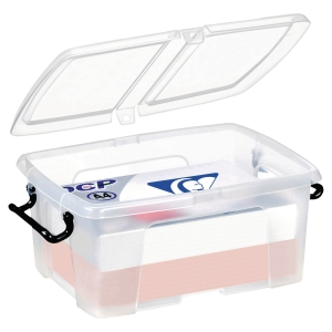 STRATA CLEAR 12 LITRE SMART STOREMASTER BOX WITH LID L400 X W225 X H170MM