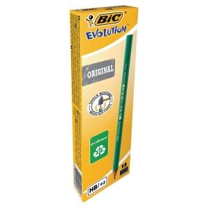 Crayon graphite Bic Evolution - HB - boîte de 12