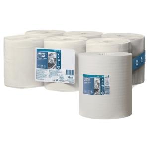 Caja de 6 bobinas de toallas TORK papel virgen/reciclado 1 capa 275 m blanco