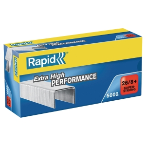 BOITE 5000 AGRAFES RAPID 26/8+ SUPER STRONG