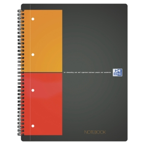 Oxford International Notebook spiraalschrift A4+ , geruit 5 x 5 mm, 80 vellen