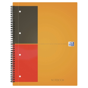 Oxford International Notebook spiraalschrift A4+ gelijnd 80 vellen