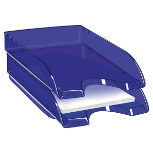 Briefkorb CEP Pro Happy, transparent blau