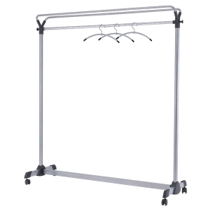 Perchero portátil acero gris metalizado ALBA  Dimensiones:  1500x1700x500mm