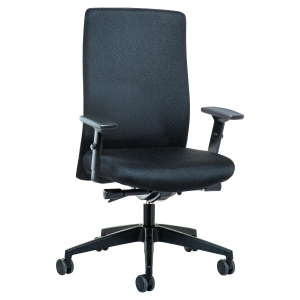 Bürostuhl Prosedia 4142, Topline, Sitz und Rücken ergonomisch geformt, schwarz