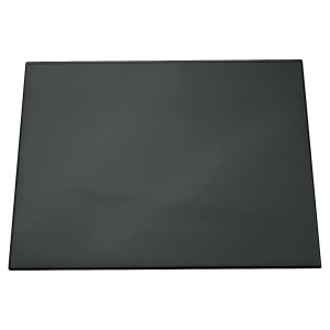 Durable Desk Mat With Transparent Overlay 52X65Cm Black