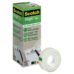 "Tejp Scotch Magic 900 ""A Greener Choice"", 19 mm x 33 m, förp. med 9 rullar"
