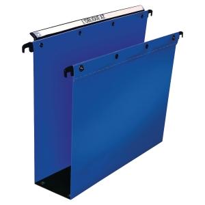 Teczka zawieszkowa ELBA 80 mm niebieska polipropylenowa opakowanie 10 sztuk*