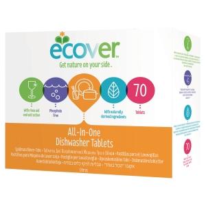 Pack de 70 pastilhas para lava-louças ECOVER