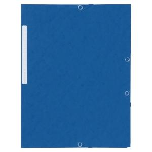 Eckspanner Lyreco, A4, aus Karton, Fassungsvermögen: 300 Blatt, blau, 10 Stück