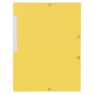 Gummibandsmapp Lyreco, manilla, A4, gul, förp. med 10 st