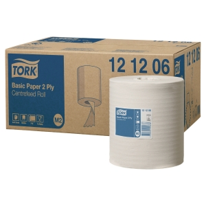TORK XPRESS WHITE M2 CENTREFEED 2 PLY WIPING PAPER ROLL 160M - PACK OF 6