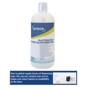 Gel hydro-alcoolique Lyreco - flacon pompe de 500 ml