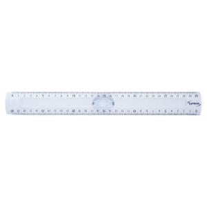 Doppellineal Lyreco, Plastik, Länge: 30cm