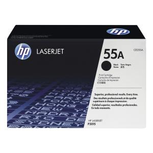 HP CE255A laser cartridge nr.55A zwart [6.000 pagina s]