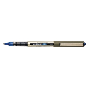 ROLLER UNI-BALL EYE POINTE CONIQUE METAL 0,7 MM ENCRE LIQUIDE INFALSIFIABLE BLEU