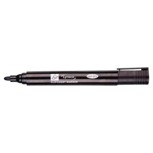 Lyreco Flipchart Markers Bullet Black - Pack Of 10