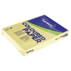 Lyreco coloured paper A3 80g canary yellow - pack of 500 sheets