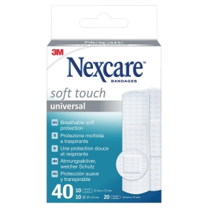 Pansement 3M Nexcare peau sensible - assortis - boîte de 40
