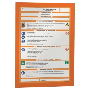 Pack de 2 marcos autoadhesivos MAGAFRAME™ formato A4 color naranja