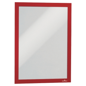 DURABLE DURAFRAME SELF ADHESIVE MAGNETIC DISPLAY FRAME A4 RED - PACK OF 2
