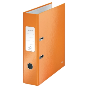Leitz 180° Wow Laminated A4 , 80mm Spine, Lever Arch File Orange