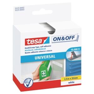 Taśma rzepowa TESA® Velcro, 20 mm x 2,5 m