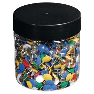 Punaises met plastic overtrokken 7mm assorti - doos van 1000