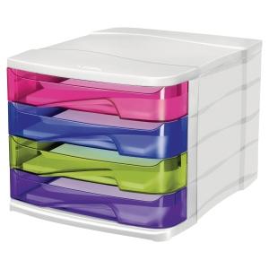 Module de classement 4 tiroirs happy by Cep coloris assortis