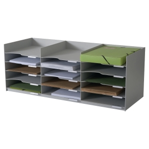 Paperflow stackable horizontal organiser  15 compartments
