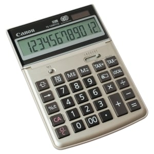 CANON TS-1200 TCG 12-DIGIT DESKTOP CALCULATOR SILVER