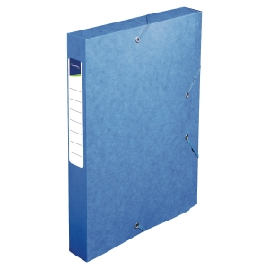 Lyreco filing box cardboard spine of 4cm blue