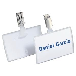 Identyfikator DURABLE Click Fold z klipem, w opakowaniu 25 sztuk