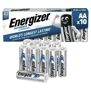 Energizer LR6/AA Lithium batteries for digital camera - pack of 10