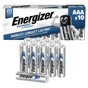 Energizer LR3/AAA Lithium batteries for MP3/4 players - pack of 10