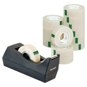 Scotch® tapedispenser C38 inkl 14 ruller Scotch® Magic Tape 900, 19 mm x 33 m